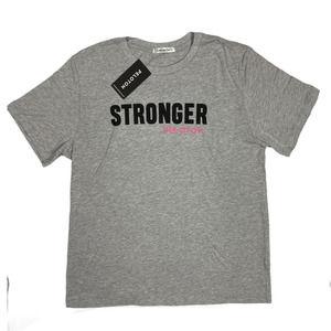 Large Gray Mens Stronger Peloton SS Crew T-shirt